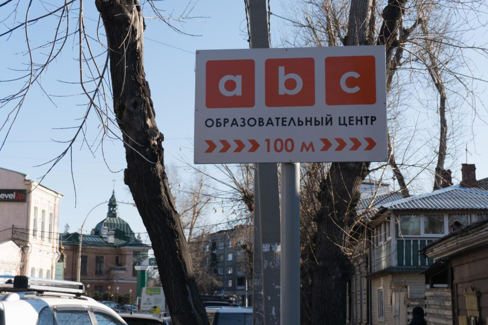 ABC on a street sign